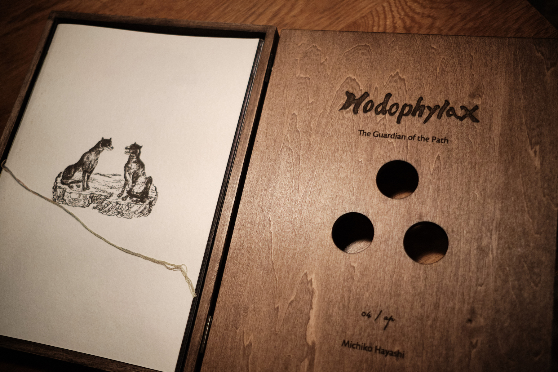 A numbered copy of Hodophylax: The Guardian of the Path. THOMAS DELSOL / HANS LUCAS