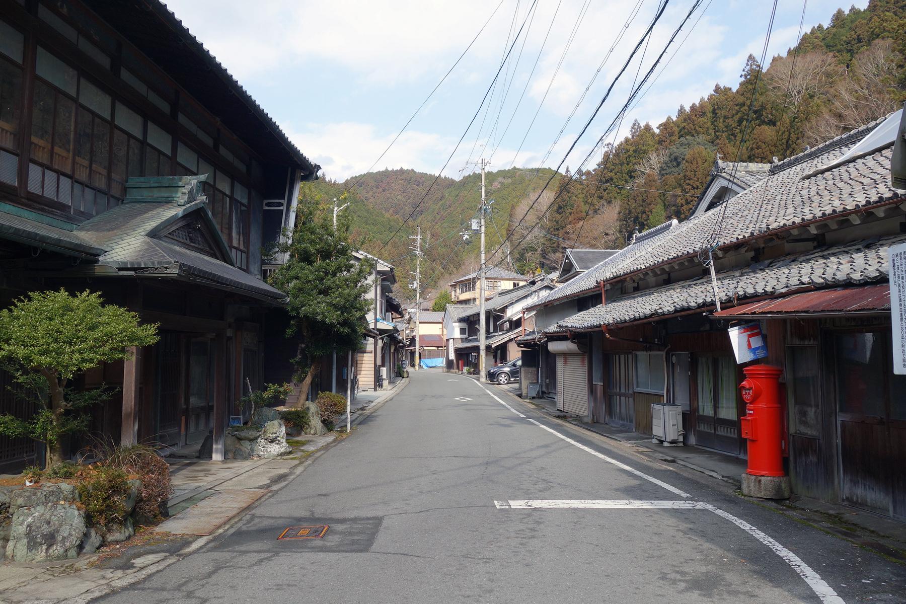 Old wooden houses line the main street running through Higashiyoshino Village, Nara Prefecture.   ALEX K.T. MARTIN